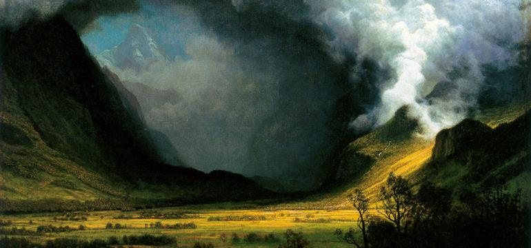 Storm in the Mountains, Albert Bierstadt, 1870