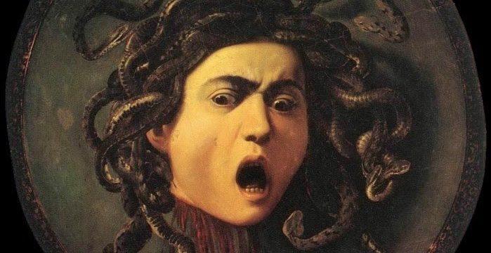 """""""Głowa Meduzy"""" (1596) / Michelangelo Caravaggio"""