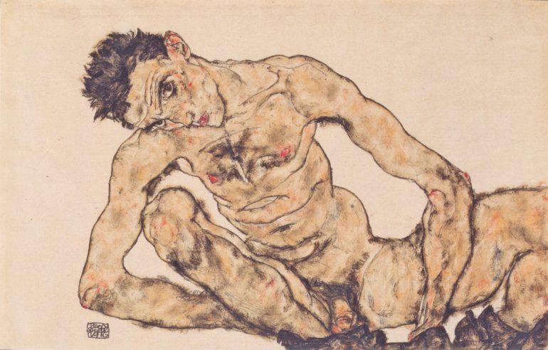 Aktselbstbildnis (1916) | Egon Schiele | Zbiory Leopold Museum