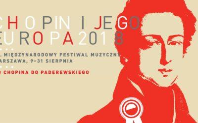 Plakat 14. Międzynarodowego Festiwalu Muzycznego Chopin i jego Europa 2018
