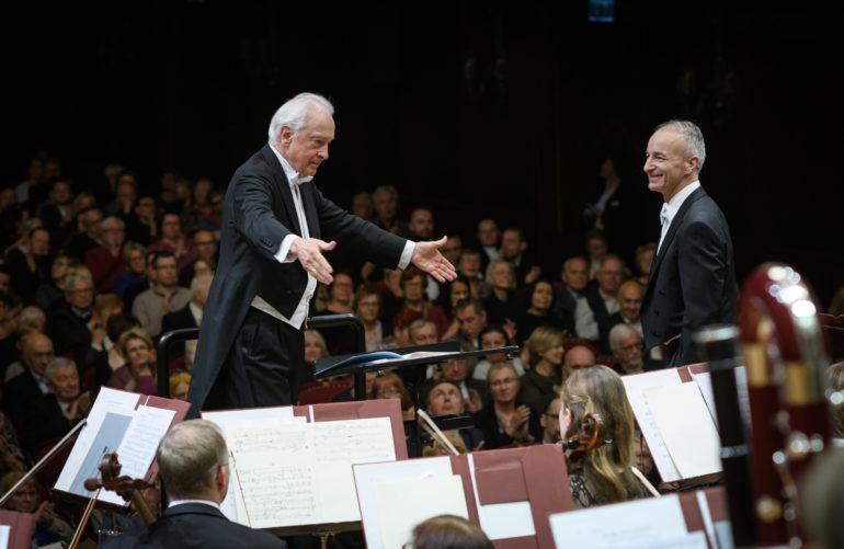 Maestro Antoni Wit i solista Dietrich Henschel w Filharmonii Narodowej w Warszawie | fot. DG Art Projects