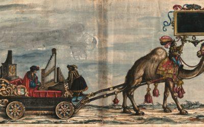 """Jedna z grafik z księgi """"Triumphzug Regal"""" (1517-18) wykonana na zlecenie Maksymiliana I Habsburga"""
